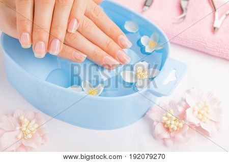 Spa treatment and product for female hand spa. Soft focus