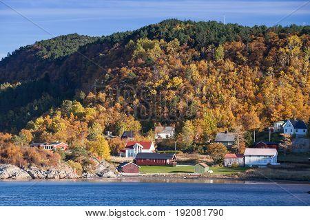 Coastal Landscape Of Hasselvika Village, Norway