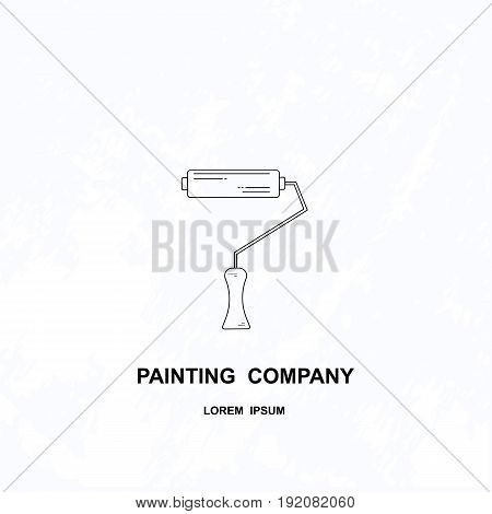 Vector line style logotype for painting company