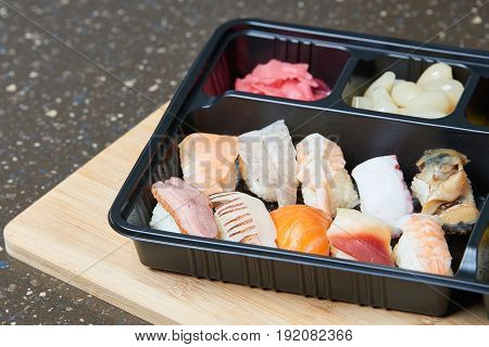 Various sushi Nigiri Sushi set. korea Food