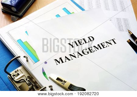Folder and documents with title Yield management.