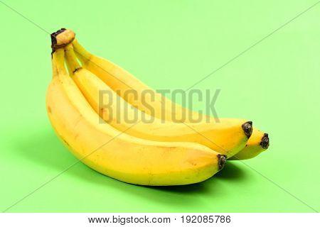 Bananas On Light Green Background