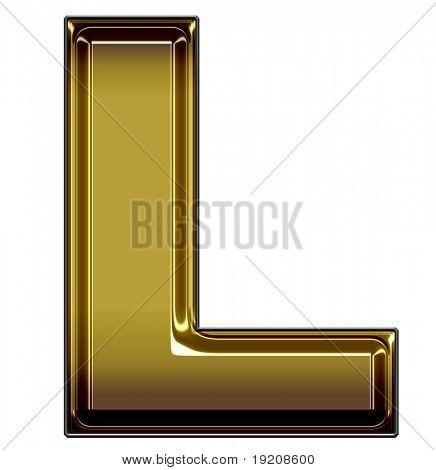 gold upper case L