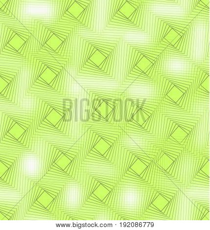 Vivid green seamless background tile with blend square decor and fine transparency effect