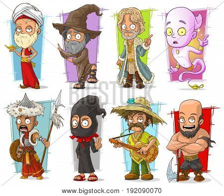 Cartoon cool funny different characters big vector set. Vol 3