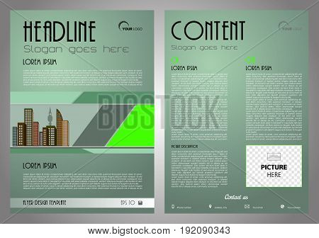 Vector Flyer, Corporate Business, Annual Report, Brochure Design And Cover Presentation With Light G