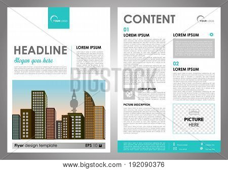Vector Flyer, Corporate Business, Annual Report, Brochure Design And Cover Presentation With Cyan Re