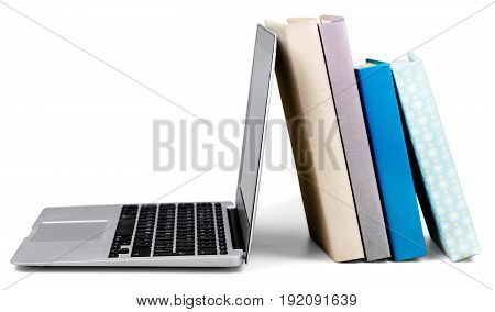 Laptop books color computer bright business silver