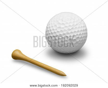 Ball isolated golf game sport leisure color