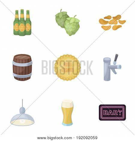 Bar, pub, restaurant, cafe .Pub set collection icons in cartoon style vector symbol stock illustration .
