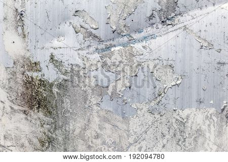 Steel texture. Corroded white metal background, close up