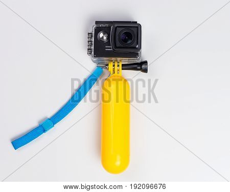 Action Camera in Water Proof case with floating stick