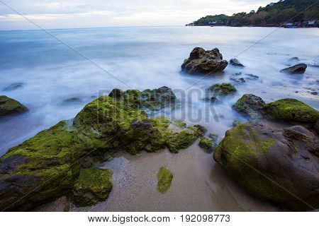 long exposure photography of beautiful sea scape in thailand