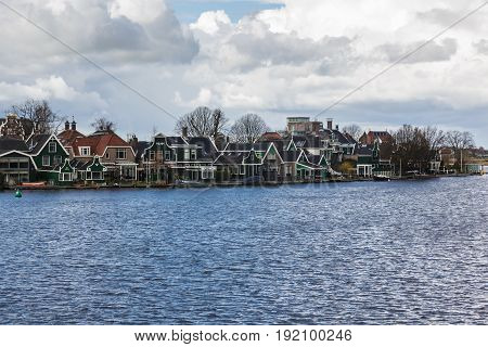 Typical houses of the Zaanse Schans in Holland the Netherlands