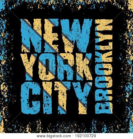 t-shirt New York New typography t-shirt Brooklyn design graphic print clothing graphic design emblem