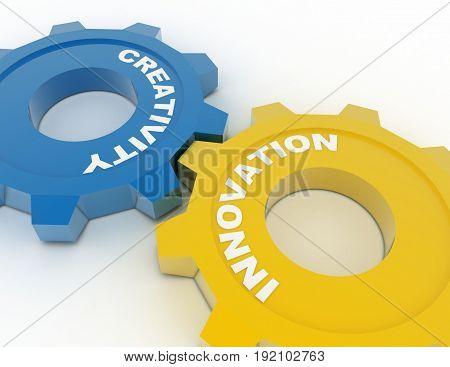 industrial innovation concept . 3d rendered illustration