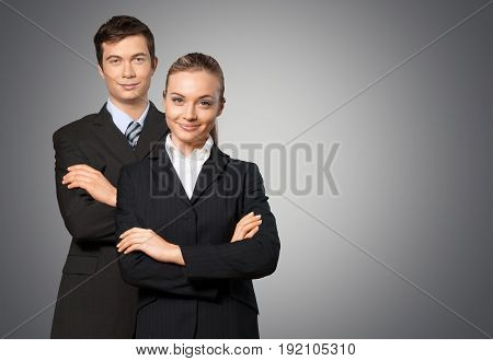 Business people two busines two people crossed hands table