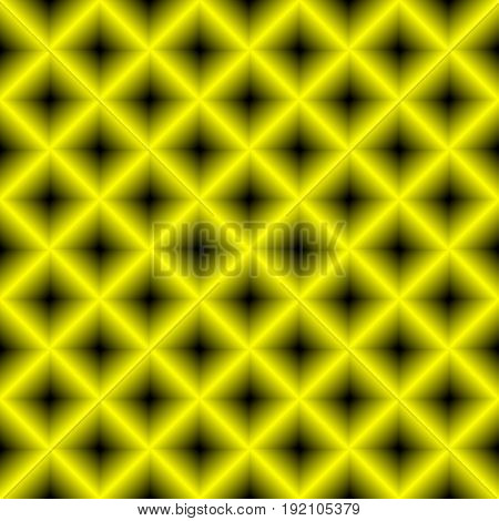 Black and yellow chessboard , abstract geometric background