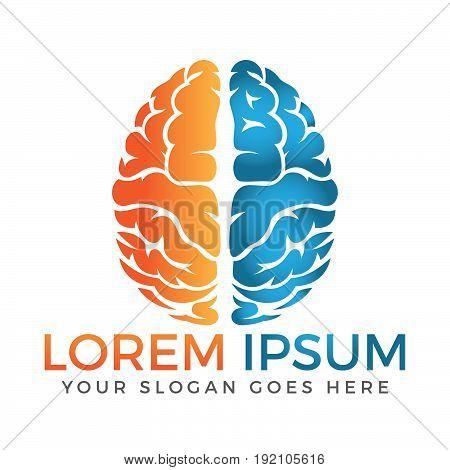 Brain logo. Color brain logo design. Creative brain. creative logo.