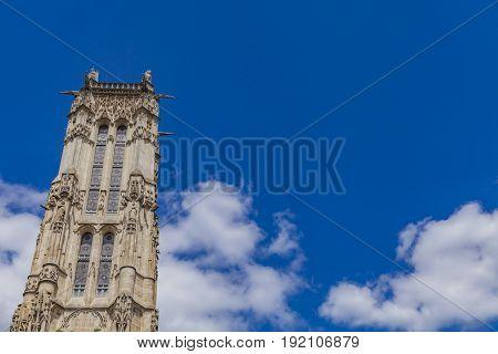 Saint Jacques Tower In Paris