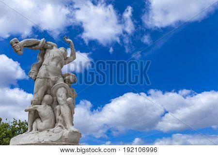 Statue La Misere At Tuileries Garden In Paris