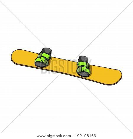 Snowboard.Extreme sport single icon in cartoon style vector symbol stock illustration .