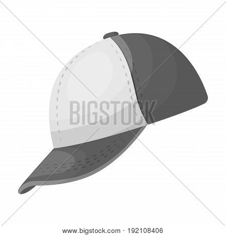 Baseball cap. Baseball single icon in monochrome style vector symbol stock illustration .