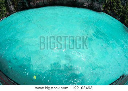 A crystal clear turquoise sea Andaman sea in Krabi Phuket Thailand