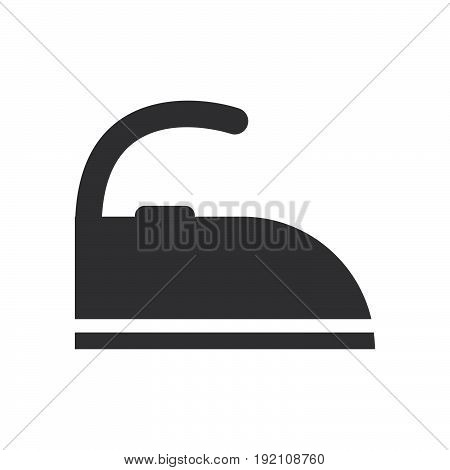 Iron icon filled flat sign solid glyph pictogram vector illustration