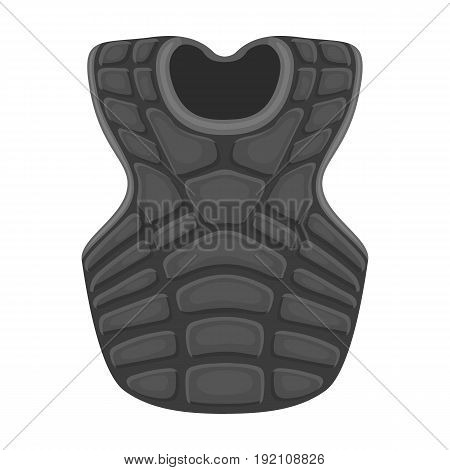 Vest baseball. Baseball single icon in monochrome style vector symbol stock illustration .