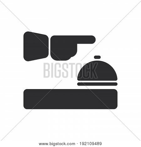 Reception icon filled flat sign solid glyph pictogram vector illustration