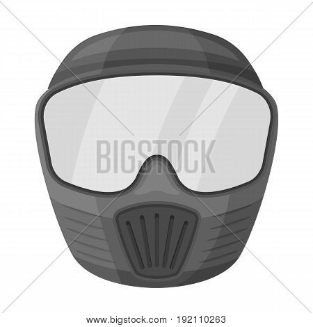 Protective mask.Paintball single icon in monochrome style vector symbol stock illustration .