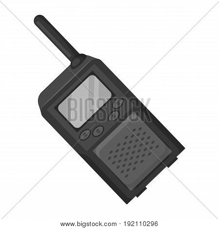 Walkie-talkie.Paintball single icon in monochrome style vector symbol stock illustration .