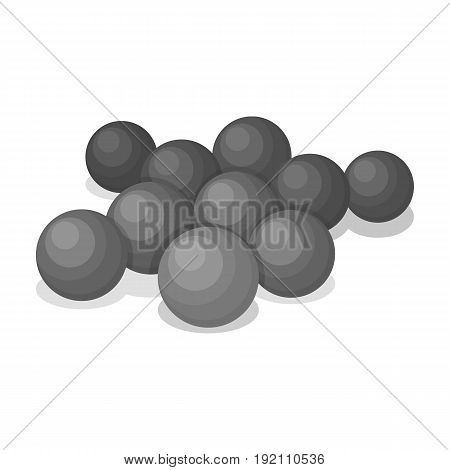 Balls for paintball.Paintball single icon in monochrome style vector symbol stock illustration .