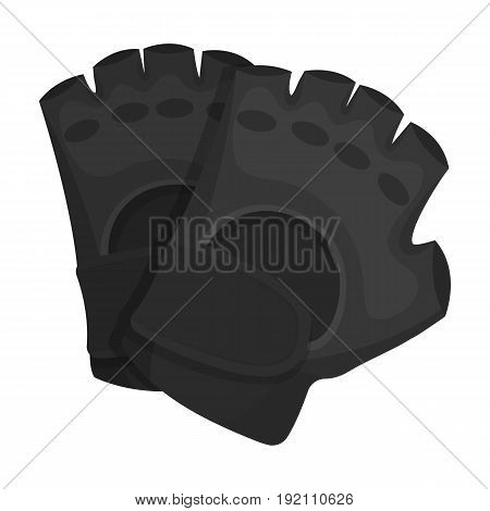 Protective gloves.Paintball single icon in monochrome style vector symbol stock illustration .