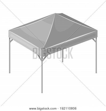 Awning for protection against sun and rain.Tent single icon in monochrome style vector symbol stock illustration .