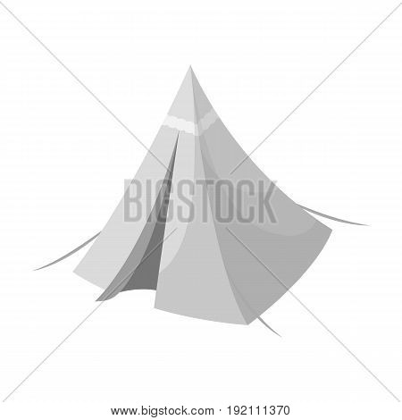 Tent cone.Tent single icon in monochrome style vector symbol stock illustration .
