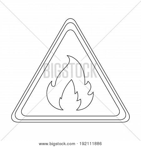 Sign of flammability.Oil single icon in outline style vector symbol stock illustration .