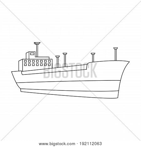 Oil ship.Oil single icon in outline style vector symbol stock illustration .