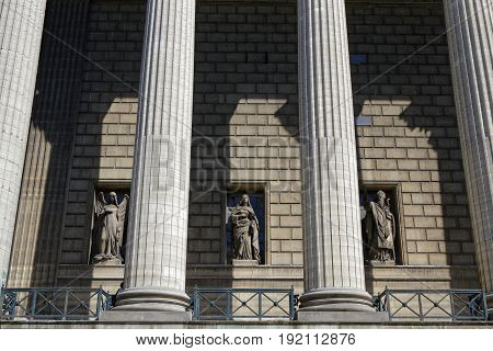 Paris, France, June 15, 2017 : The Madeleine Church Was Designed In Its Present Form As A Temple To