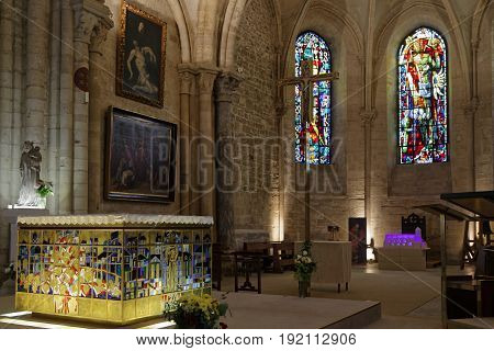 Paris, France, June 16, 2017 : Inside The Church Of Saint Peter Of Montmartre The Church Is One Of T