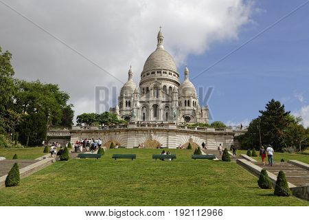 Paris, France, June 16, 2017 : The Basilica Of The Sacred Heart Of Paris, Commonly Known As Sacre-co