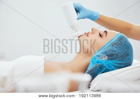Woman Lying On Procedure Of Brossage