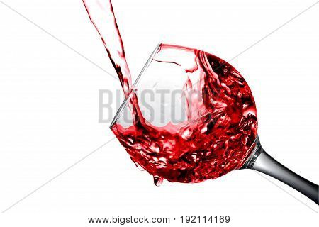Desert Fruit White Wine Is Poured Into A Glass