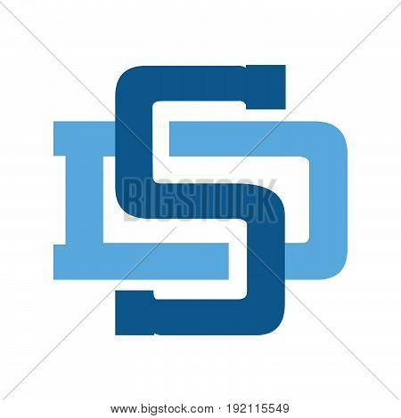 Letter DS or SD business vector design Template.