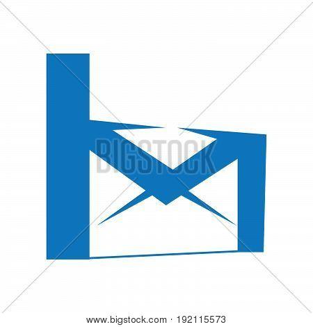 Letter M mail vector logo design. Creative logo. Net logo.