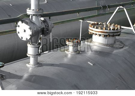 Shut-off Valve Above The Large Fuel Tank In The Storage Area Of