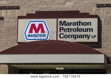 Indianapolis - Circa June 2017: Marathon Petroleum Regional Offices. Marathon Petroleum Refines and Markets Oil Products IV