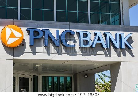 Indianapolis - Circa June 2017: PNC Bank Branch. PNC Financial Services offers Retail Corporate and Mortgage Banking XI
