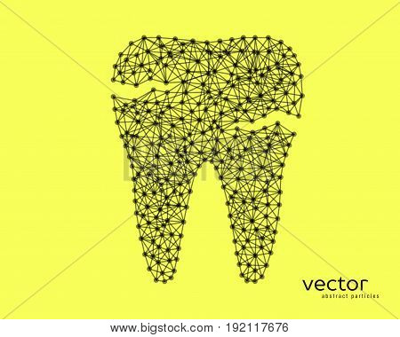 Abstract Vector Illustration Of Tooth With Caries.